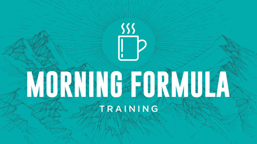 Double Your Output With The Morning Formula